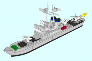 Fragata renderizada con LDraw