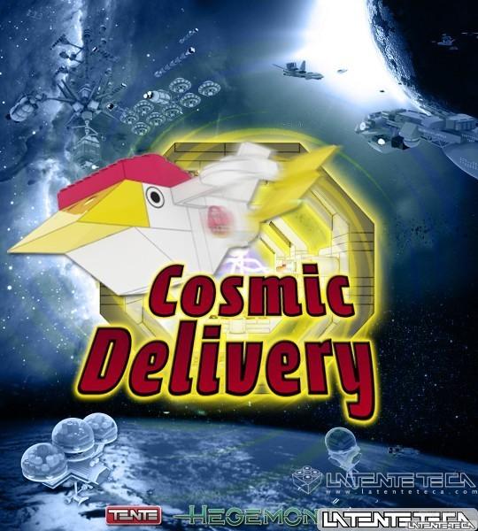 """Cartel Animación TENTE 3D """"Cosmic Delivery"""""""