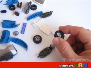 Coche de policía: Detalle de los neumáticos