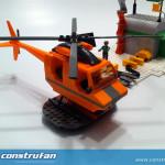 Detalle del helicóptero de 4 plazas