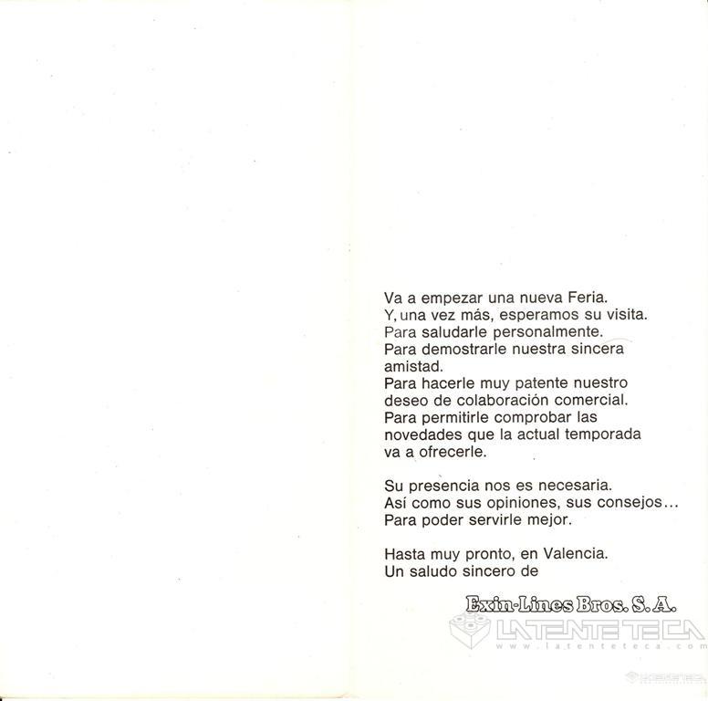 Díptico promocioanl de la Feria de 1982? (Interior)