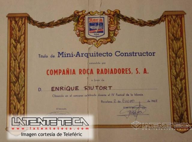 Diploma de Mini-Arquitecto
