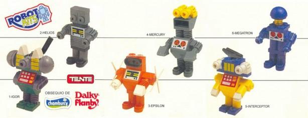 Mini-catálogo de modelos de los Robo-Kits de Chamburcy (Anverso)