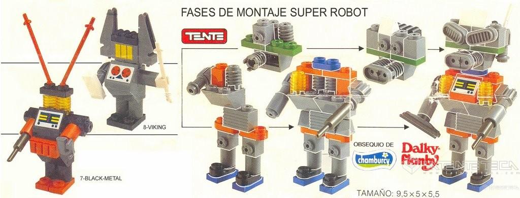 Mini-catálogo de modelos de los Robo-Kits de Chamburcy (Reverso)