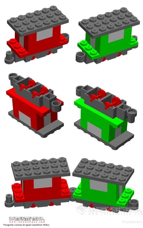 Vagones con enganches (Diseños)