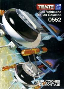 """Portada del libreto de instrucciones de """"Los Vehículos de las Galaxias"""""""